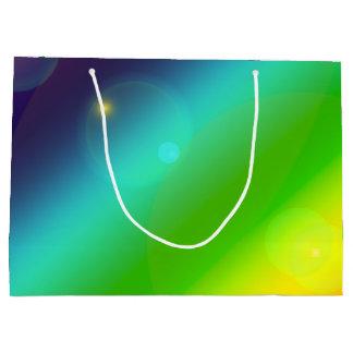 Sacola Para Presentes Grande Arco-íris borbulhante