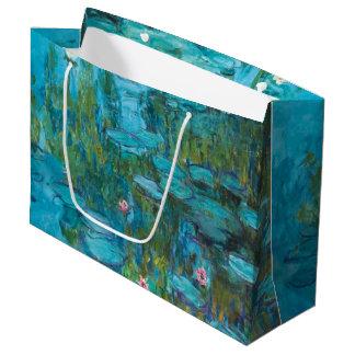 Sacola Para Presentes Grande Arte de Nymphéas GalleryHD dos lírios de água de