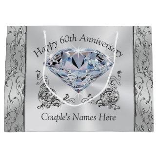 Sacola Para Presentes Grande As 60th bolsas personalizadas diamante do presente