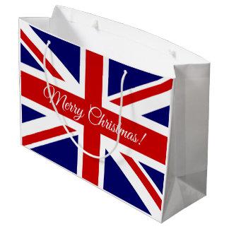 Sacola Para Presentes Grande As bolsas britânicas do presente do Feliz Natal da