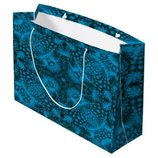 Sacola Para Presentes Grande As bolsas coloridas pretas e azuis do presente