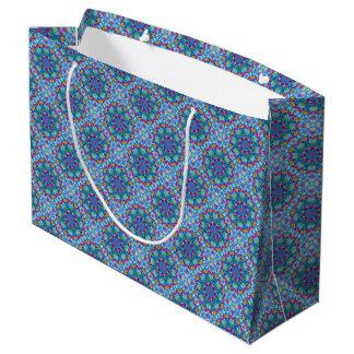 Sacola Para Presentes Grande As bolsas do presente do caleidoscópio do vintage