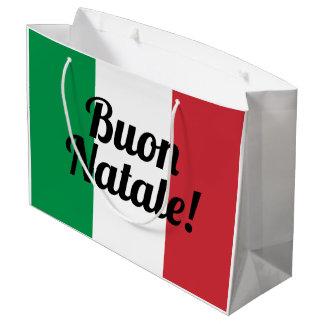 Sacola Para Presentes Grande As bolsas italianas do presente do Feliz Natal da