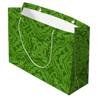 Sacola Para Presentes Grande As bolsas verdes indo do presente do caleidoscópio