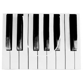 Sacola Para Presentes Grande As chaves rasgadas velhas do piano refrigeram o