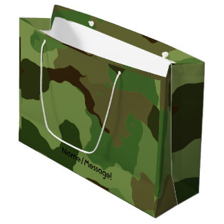 Sacola Para Presentes Grande As forças armadas tradicionais camuflam