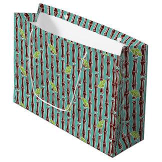 Sacola Para Presentes Grande Bambu grande - Aqua - grande saco do presente