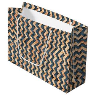 Sacola Para Presentes Grande Bambu tecido