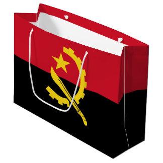Sacola Para Presentes Grande Bandeira angolana patriótica