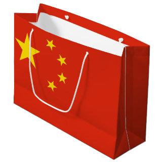 Sacola Para Presentes Grande Bandeira chinesa patriótica