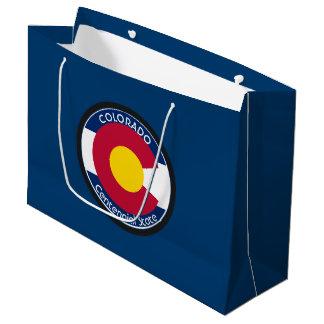 Sacola Para Presentes Grande Bandeira da circular de Colorado
