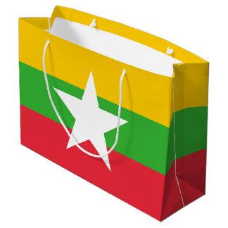 Sacola Para Presentes Grande Bandeira de Burma