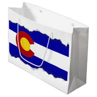 Sacola Para Presentes Grande Bandeira de Colorado