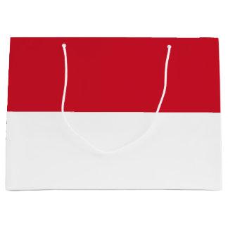 Sacola Para Presentes Grande Bandeira de Indonésia/Monaco
