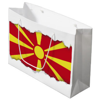 Sacola Para Presentes Grande Bandeira de Macedónia