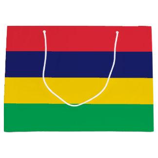 Sacola Para Presentes Grande Bandeira de Maurícia