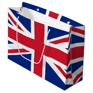 Sacola Para Presentes Grande Bandeira de Reino Unido