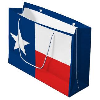 Sacola Para Presentes Grande Bandeira de Texas