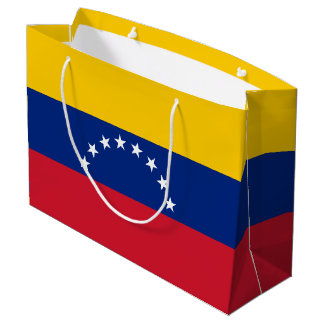 Sacola Para Presentes Grande Bandeira de Venezuela