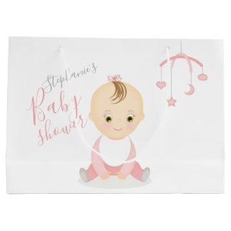 Sacola Para Presentes Grande Bebé bonito e seu chá de fraldas móvel