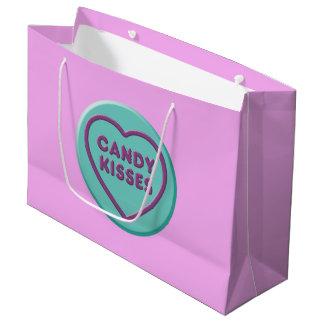 Sacola Para Presentes Grande Beijos de doces