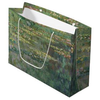 Sacola Para Presentes Grande Belas artes GalleryHD da lagoa do lírio de água de