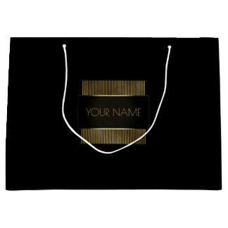 Sacola Para Presentes Grande Beleza de marcagem com ferro quente do luxo
