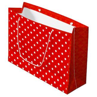 Sacola Para Presentes Grande Bolinhas vermelhas