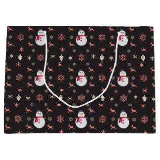 Sacola Para Presentes Grande Boneco de neve Navidad do quadro