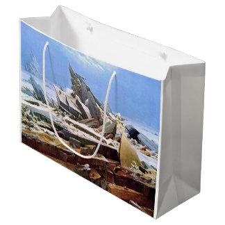 Sacola Para Presentes Grande CASPAR DAVID FRIEDRICH - o mar do gelo 1824
