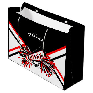 Sacola Para Presentes Grande Cheerleaderes - vermelhos, preto, branco - grandes