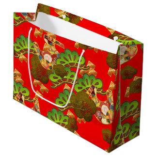 Sacola Para Presentes Grande Chiyogami-Washi denominou o saco do presente