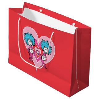 Sacola Para Presentes Grande Coisa 2 da coisa 1 do Dr. Seuss Namorados |