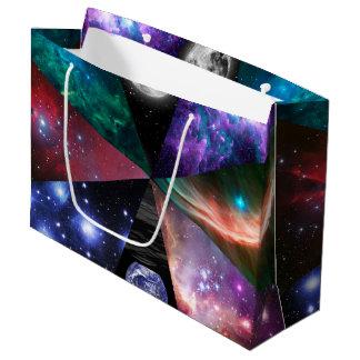 Sacola Para Presentes Grande Colagem da astronomia