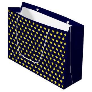 Sacola Para Presentes Grande Custom veneno Bag azul de noitada estrela