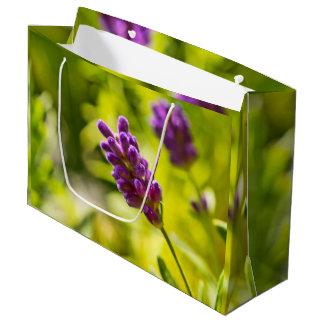 Sacola Para Presentes Grande Custom veneno Bag flor de alfazema - Grande,