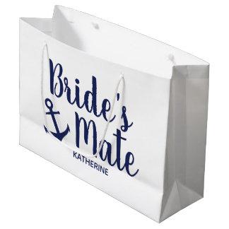 Sacola Para Presentes Grande Dama de honra da âncora do companheiro da noiva