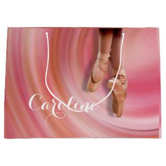 Sacola Para Presentes Grande Dançarino de balé em calçados de dedo do pé com