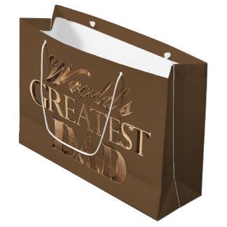 Sacola Para Presentes Grande Dos mundos elegantes da tipografia do ouro de