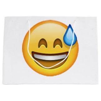 Sacola Para Presentes Grande Emoji - suor frio