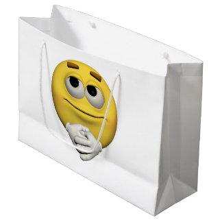 Sacola Para Presentes Grande emoticon da satisfacção