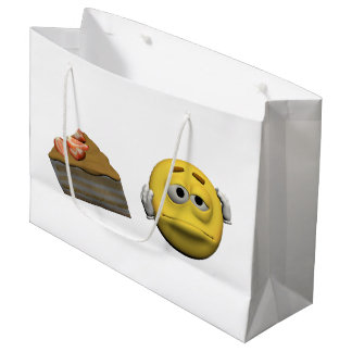 Sacola Para Presentes Grande Emoticon doente amarelo ou smiley