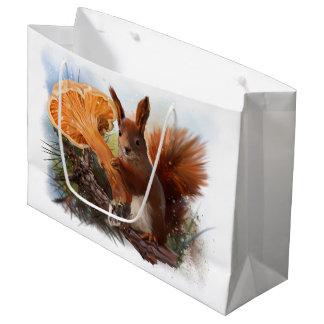 Sacola Para Presentes Grande Esquilo