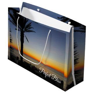 Sacola Para Presentes Grande Felicidade perfeita - por do sol em Dana Point,