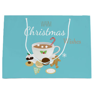 Sacola Para Presentes Grande Feriado dos biscoitos do Natal e do chocolate