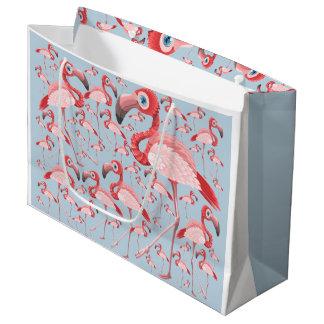 Sacola Para Presentes Grande Flamingo