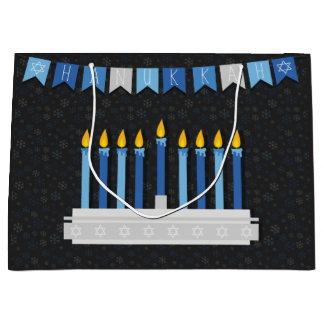 Sacola Para Presentes Grande Flocos de neve de Hanukkah do quadro