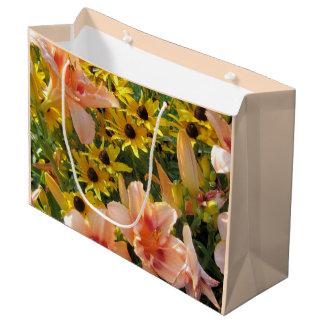 Sacola Para Presentes Grande Flores do verão do jardim