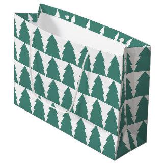 Sacola Para Presentes Grande Floresta da árvore de Natal