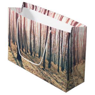 Sacola Para Presentes Grande Floresta desencapada